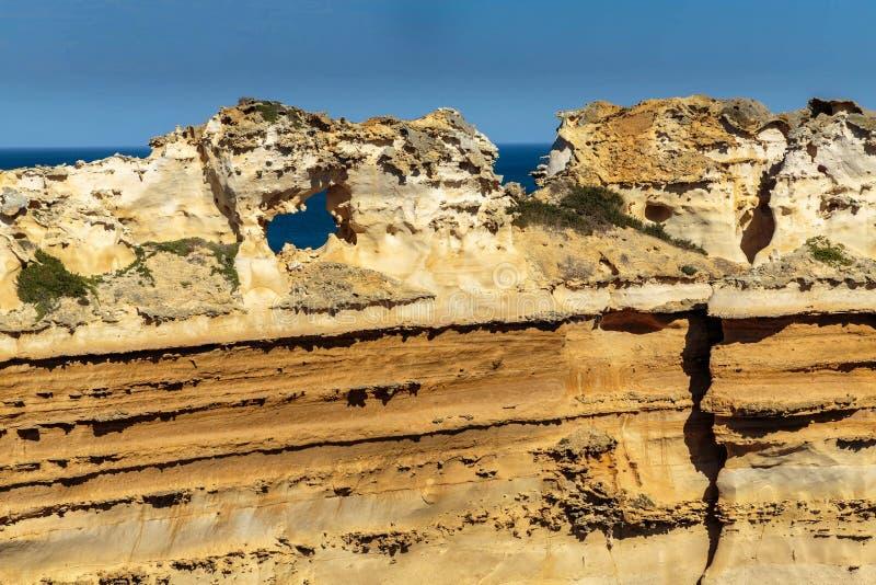 Buntar på de tolv apostlarna, port Campbell, stor havväg, Victoria, Australien royaltyfria foton