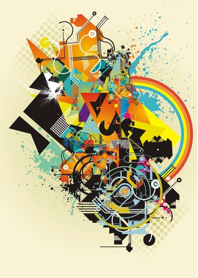 Bunte abstrakte Formen lizenzfreie abbildung