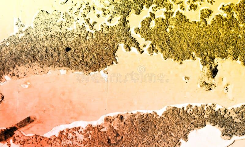 Bunte abstrakte gemalte Wand und Fußbodenbelag lizenzfreie stockfotografie