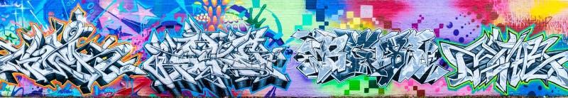 Bunte abstrakte Graffiti-Welt lizenzfreie abbildung