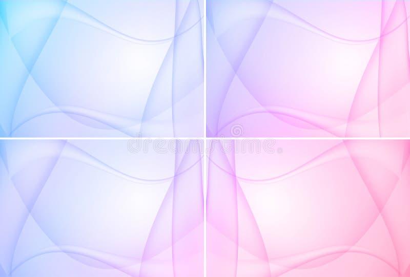 Bunte abstrakte Hintergründe vektor abbildung