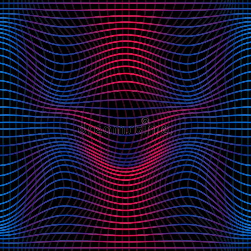 Bunte abstrakte Linie nahtloses Muster der Welle Beschaffenheit mit den gewellten, wogenden Linien für Ihre Designe lizenzfreie abbildung