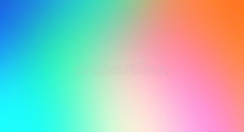 Bunte abstrakte Unschärfehintergrundtapete, mehrfarbige Vektorillustration lizenzfreie stockfotografie