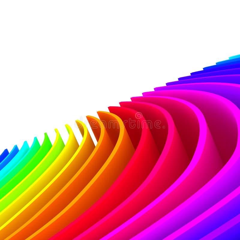 Bunte abstrakte Zeilen für Hintergrund stock abbildung
