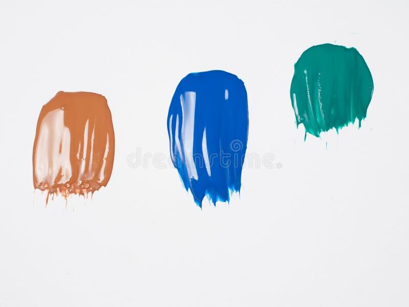 Bunte Anschläge der Acrylfarbe stockfoto