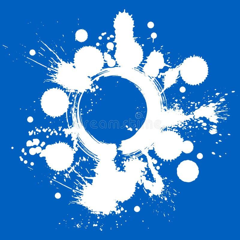 Bunte Aquarellgraffiti spritzen die Überlagerungselemente, ausdrucksvoll stock abbildung