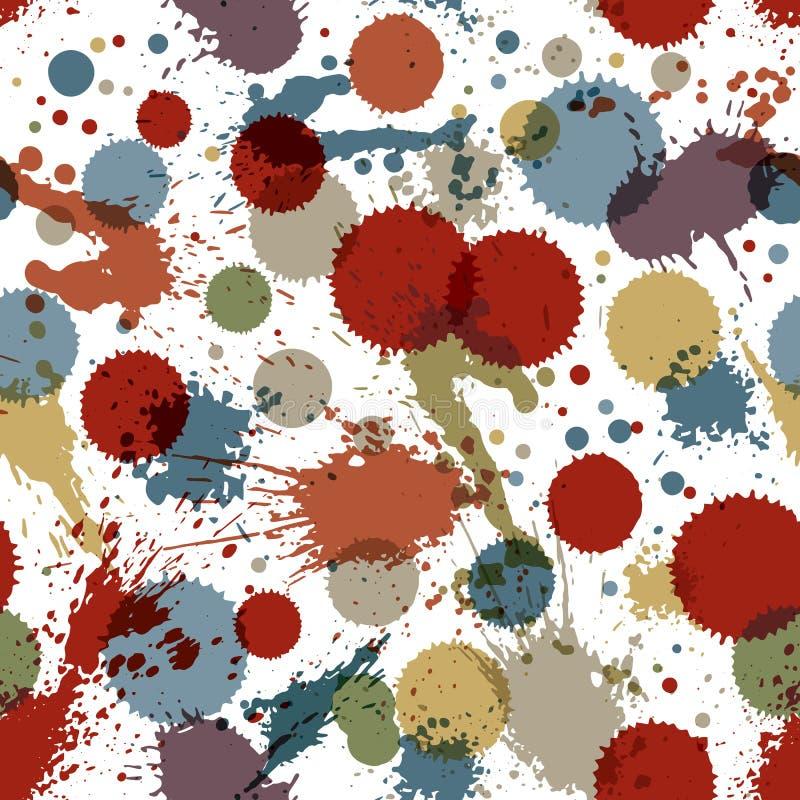 Bunte Aquarellgraffiti spritzen die Überlagerungselemente, ungenau vektor abbildung