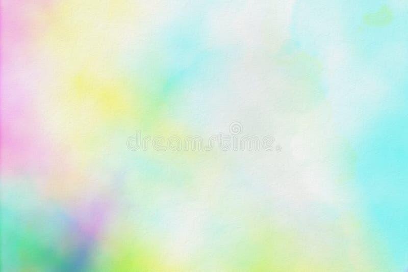 Bunte Aquarellpapierbeschaffenheit, weicher Hintergrund lizenzfreie abbildung