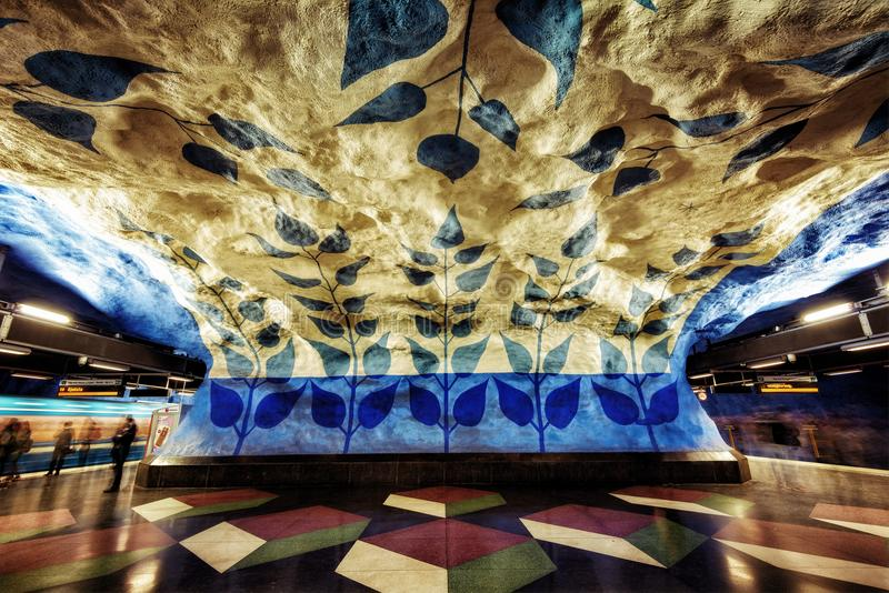 Bunte Architektur Stockholms stockfotos