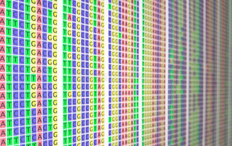 Bunte Ausrichtung DNA - Seite undeutlich lizenzfreie stockfotografie