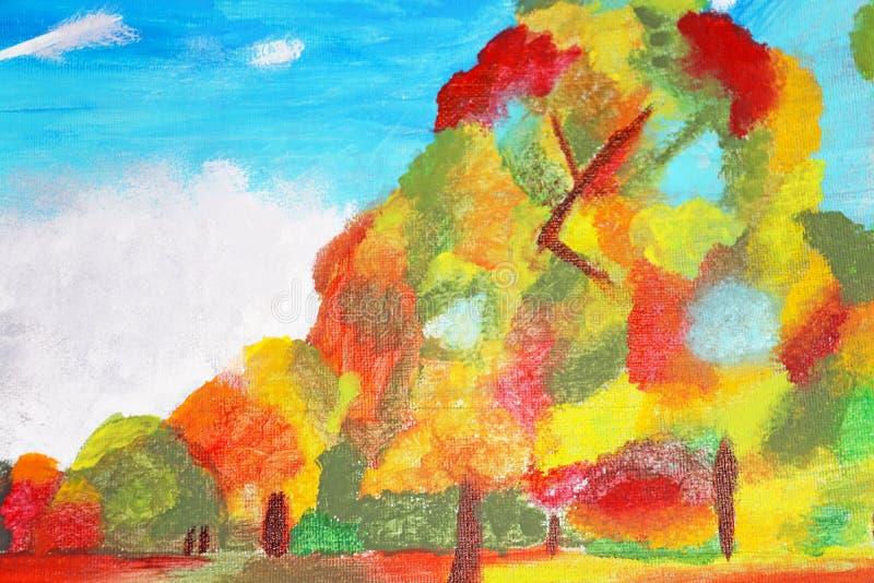 Bunte Bäume im Herbst stockfotografie