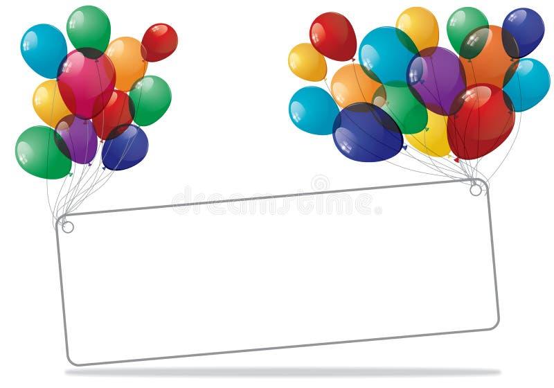 Bunte Ballon-Fahne - Illustration vektor abbildung
