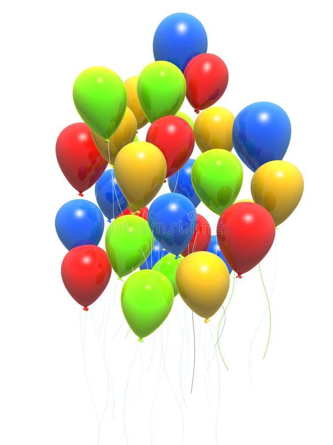 Bunte Ballone lizenzfreie abbildung