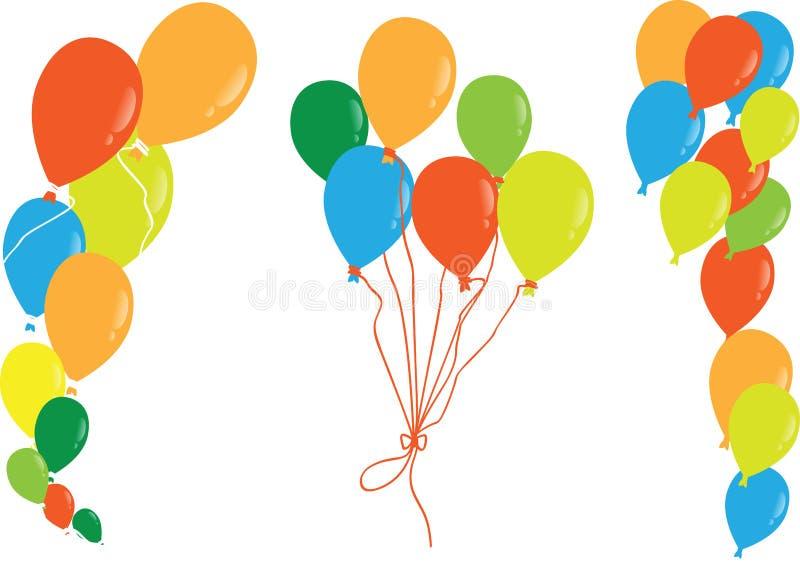 Bunte Ballone Vektor stock abbildung