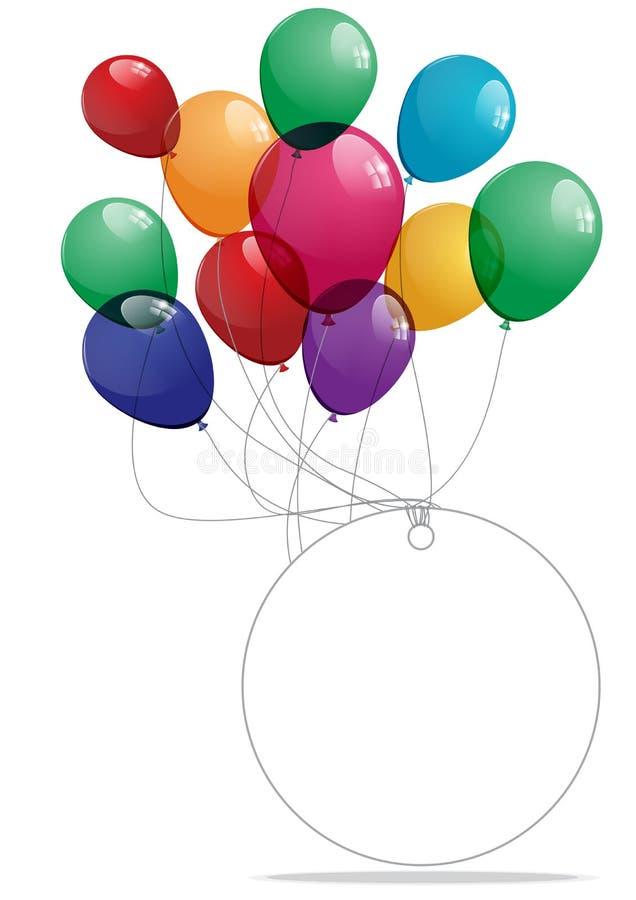 Bunte Ballonfahne vektor abbildung