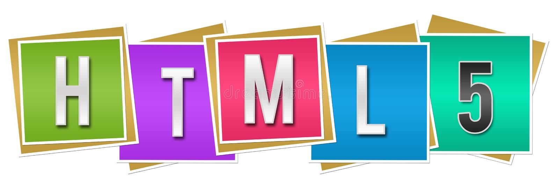 Bunte Blöcke HTML 5 stock abbildung