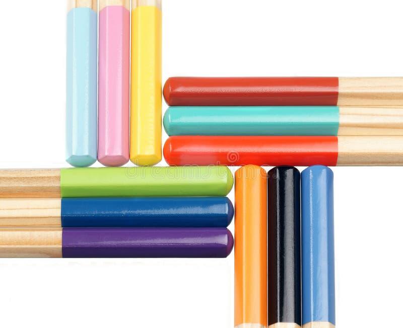 Bunte Bleistifte lizenzfreie stockbilder