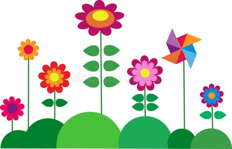 Bunte Blume des Frühjahrs lizenzfreie abbildung