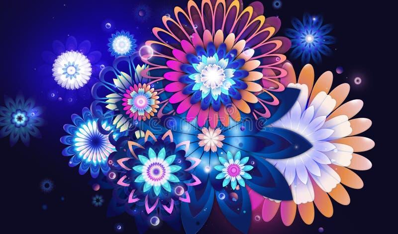 Bunte Blumen lizenzfreie abbildung
