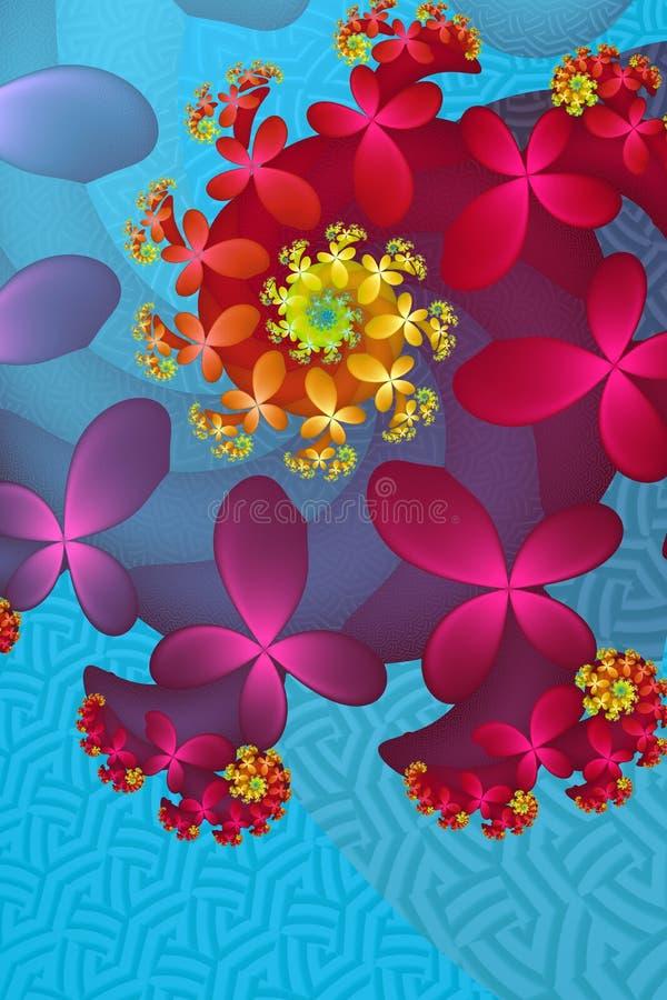 Bunte Blumen-Blumenstrauß-Zusammenfassung lizenzfreie abbildung