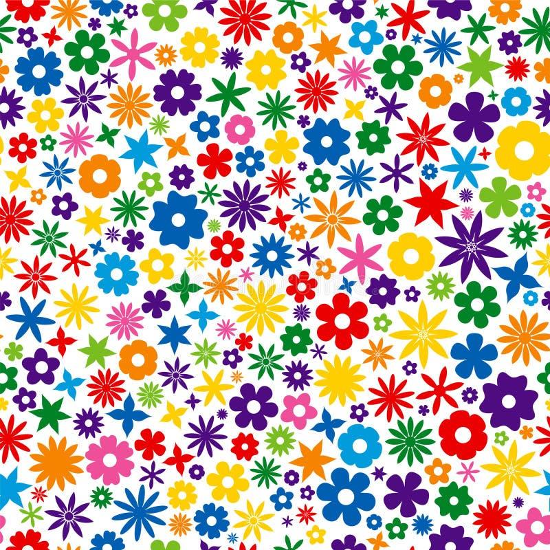 Bunte Blumen-Fliese stock abbildung