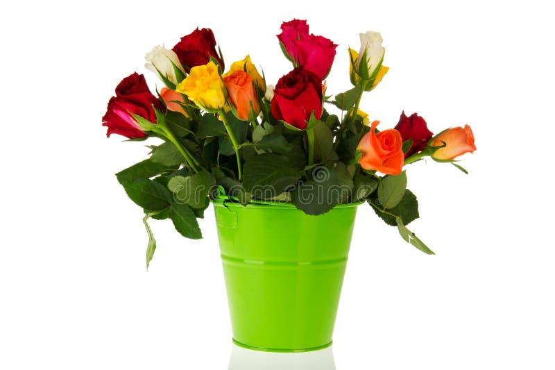 Bunte Blumenstraußrosen lizenzfreie stockfotos
