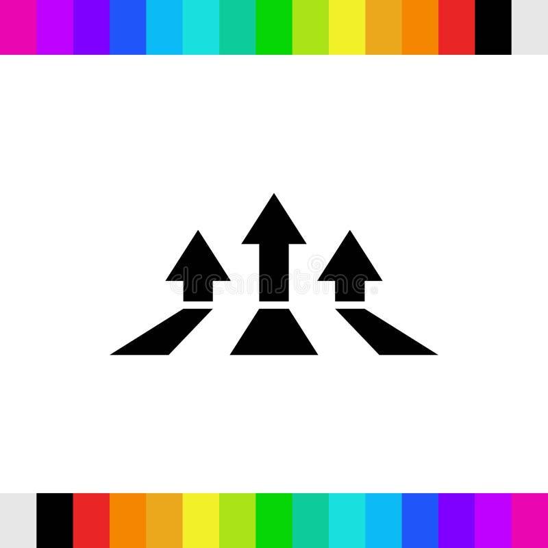 Bunte Bookmarks und Pfeilikone auf Lager flaches Design der Vektorillustration stockfoto