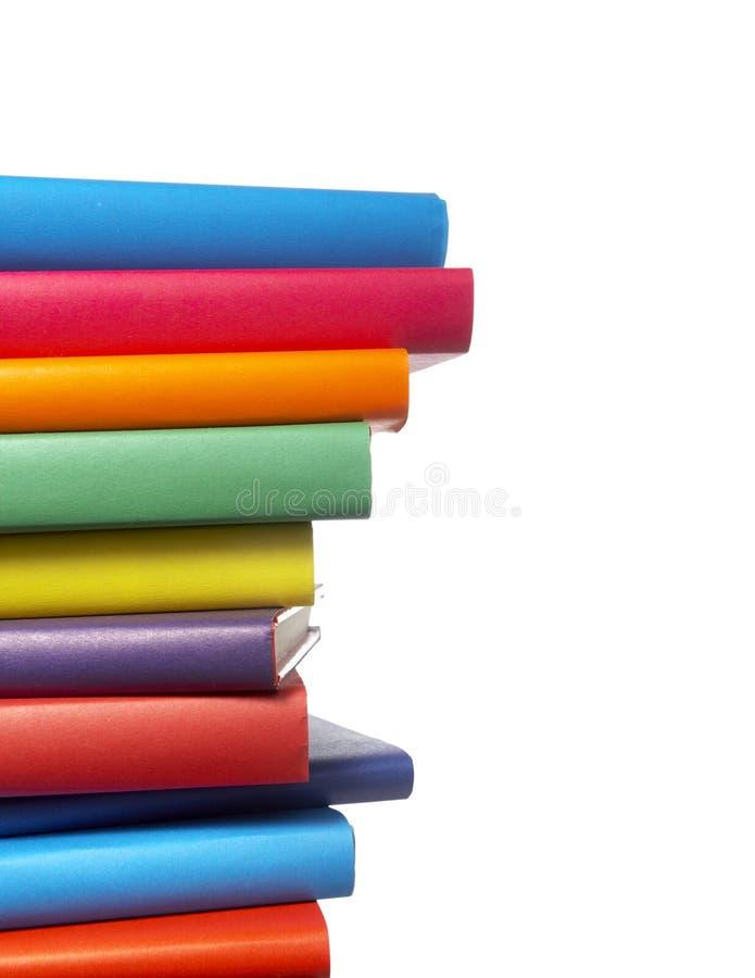 Bunte Buchstapelausbildung lizenzfreies stockbild