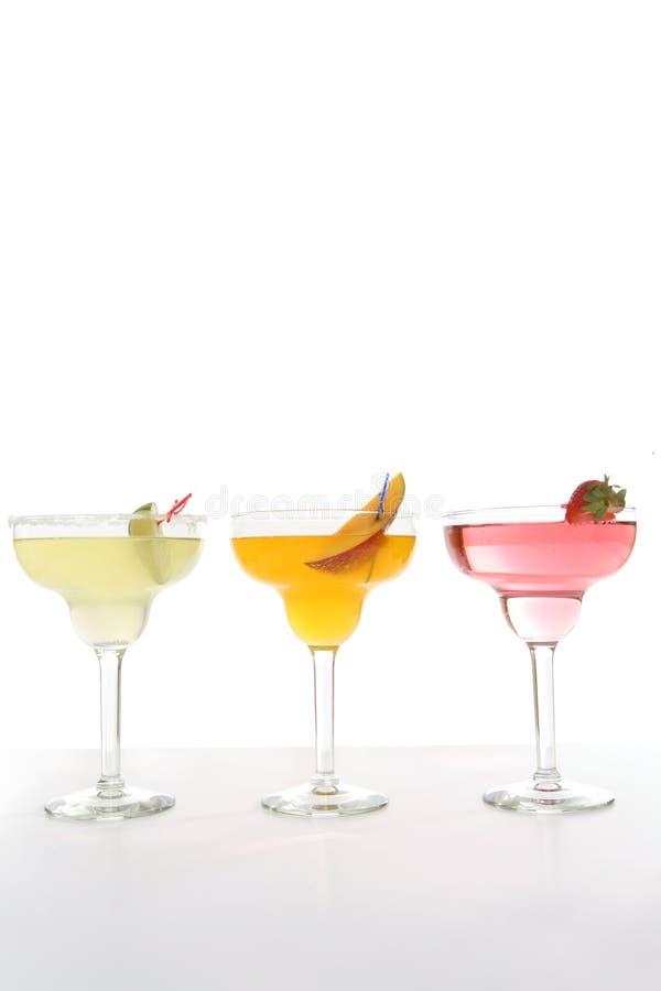 Bunte Cocktails stockfoto