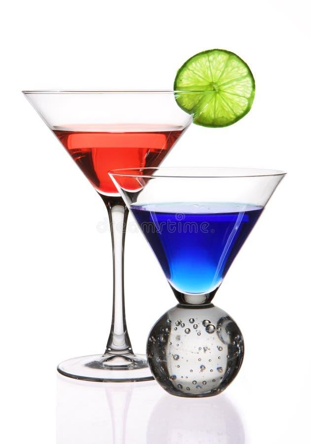 Bunte Cocktails stockbilder