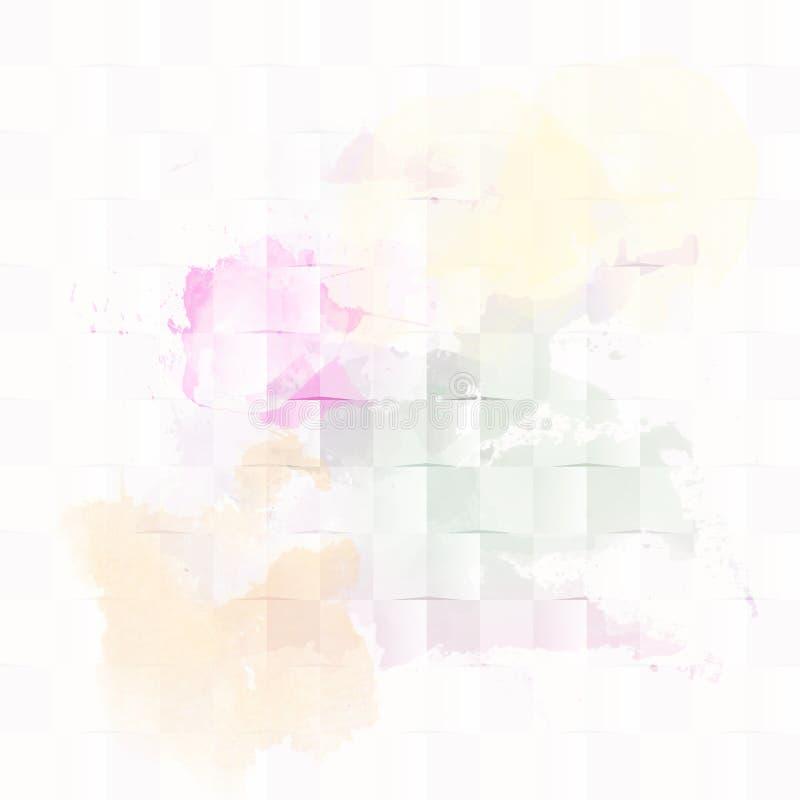 Bunte digitale Farbe spritzt Bit-?bersichtsillustration lizenzfreie abbildung