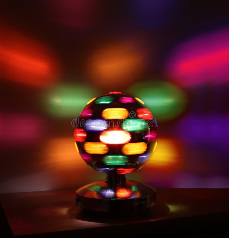 Bunte Disco beleuchtet Kugel stockfoto