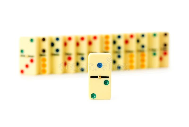Bunte Dominos stockfotos