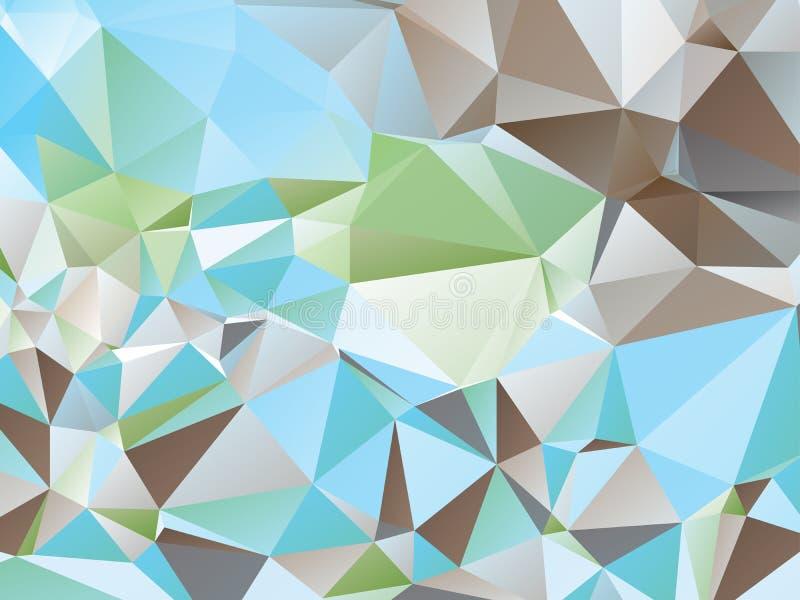 Bunte Dreiecke stock abbildung