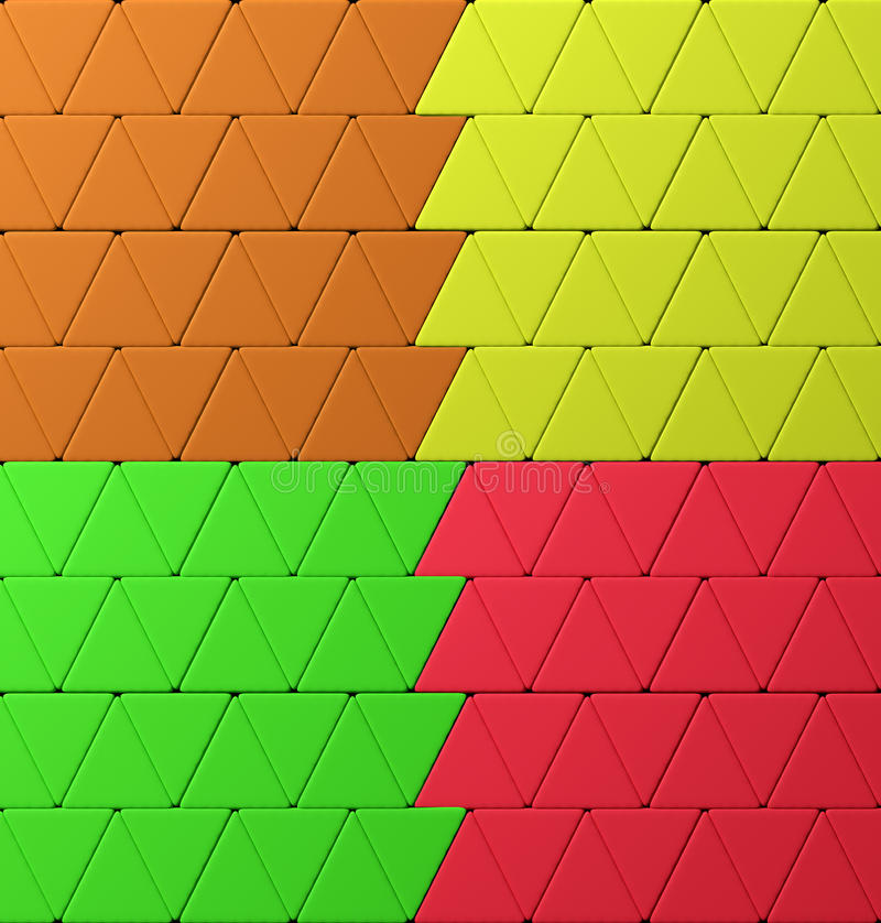Bunte Dreiecke vektor abbildung