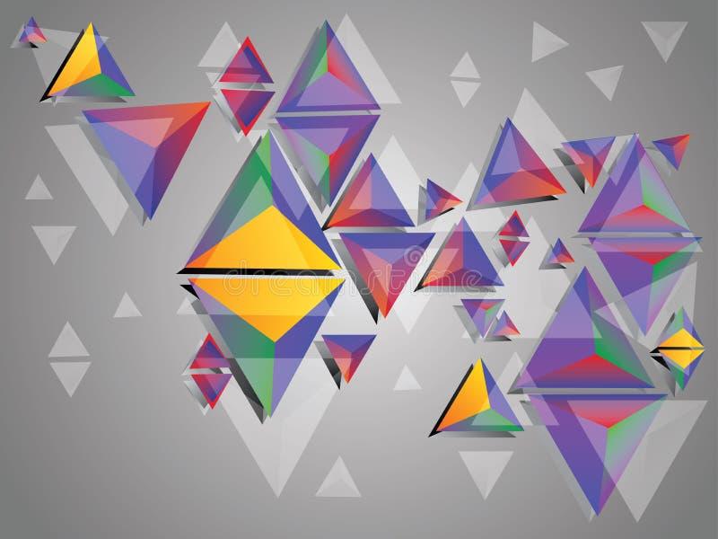 Bunte Dreiecke 3d lizenzfreie abbildung