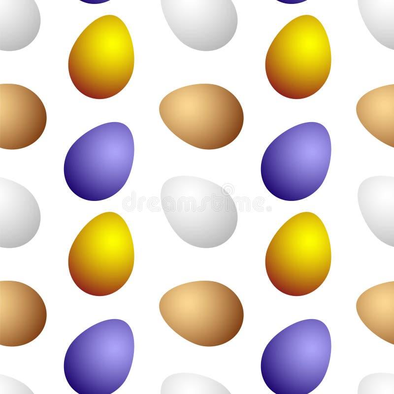 Bunte Eier auf einem weißen Hintergrund stock abbildung