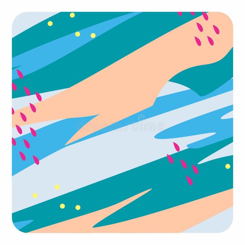 Bunte einfache Zusammenfassungs-Digital-K?nste/-malereien/-hintergr?nde/-illustrationen lizenzfreie abbildung