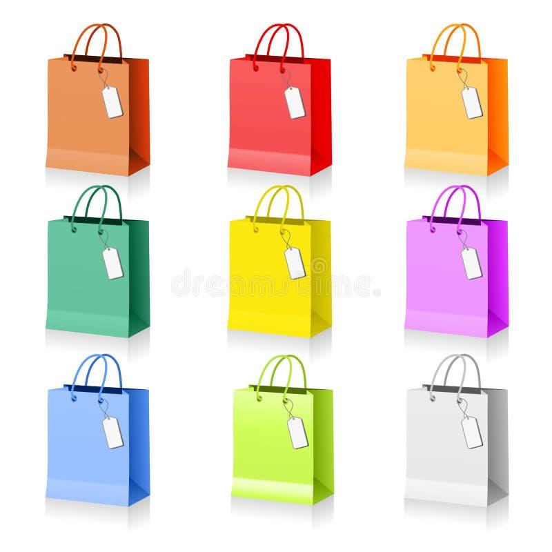 Bunte Einkaufenbeutel stock abbildung