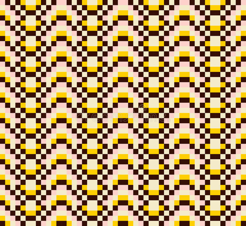 Bunte ethnische dekorative Muster mexikanisch, nahtloses Vektormuster stock abbildung