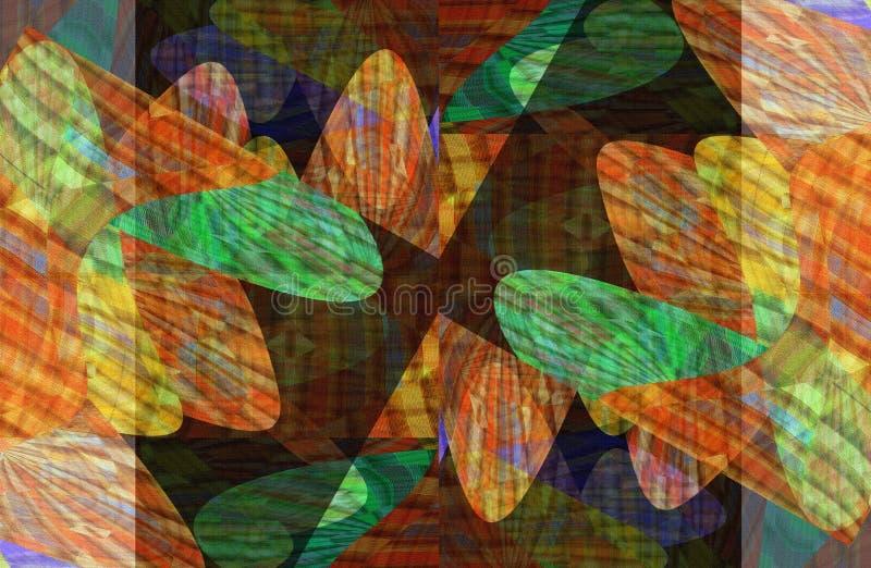Bunte Fantasie mit den hellen und dunklen Bildern vektor abbildung
