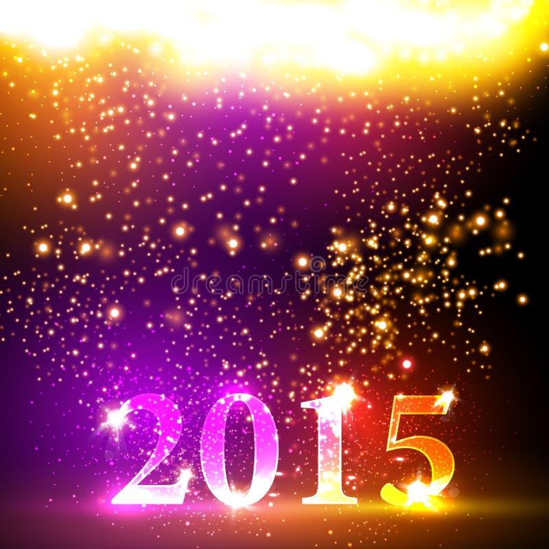 Bunte Feier des guten Rutsch ins Neue Jahr 2015 lizenzfreie abbildung