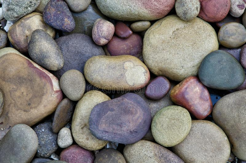 Bunte Felsen vom Büffel-Fluss lizenzfreie stockfotos