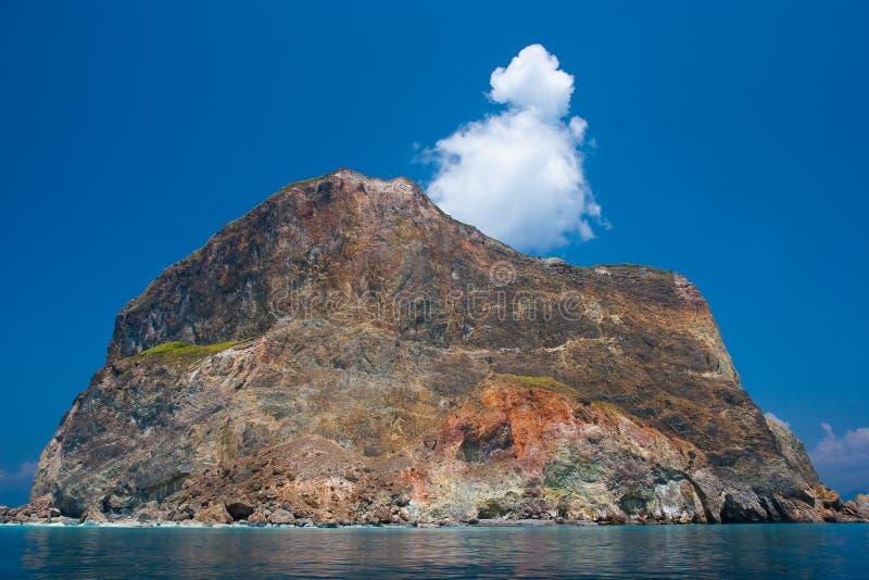 Bunte Felseninsel stockfoto