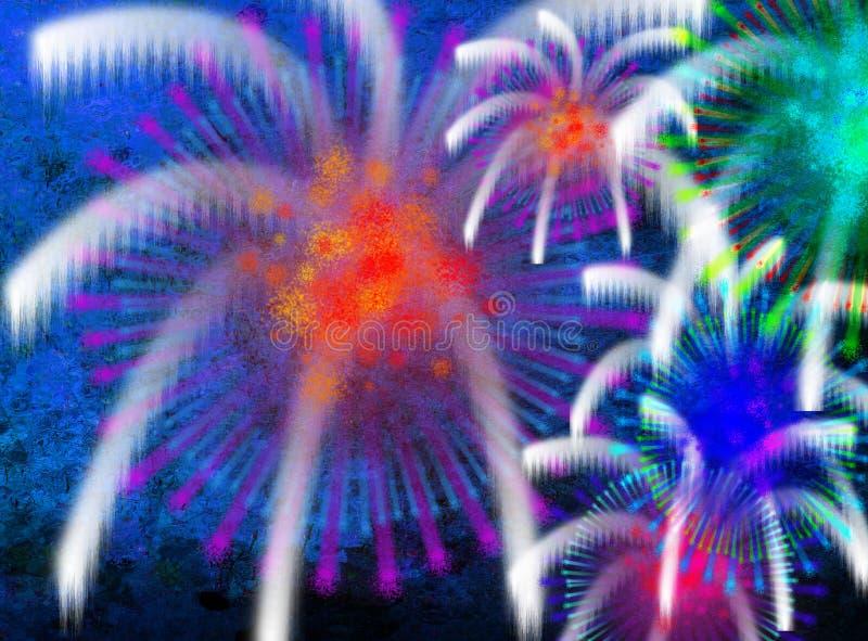 Bunte Feuerwerke lizenzfreie abbildung