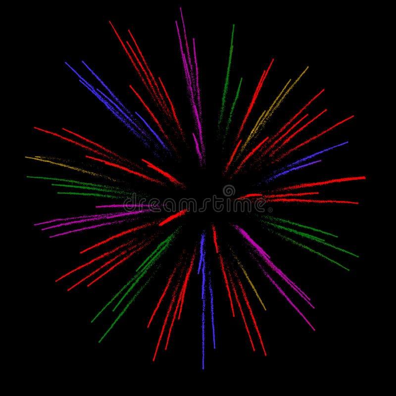 Bunte Feuerwerke stockbilder