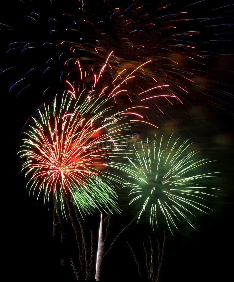 Feuerwerke nachts stockfotografie