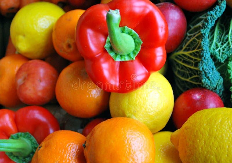 Bunte Frucht und veg lizenzfreie stockbilder