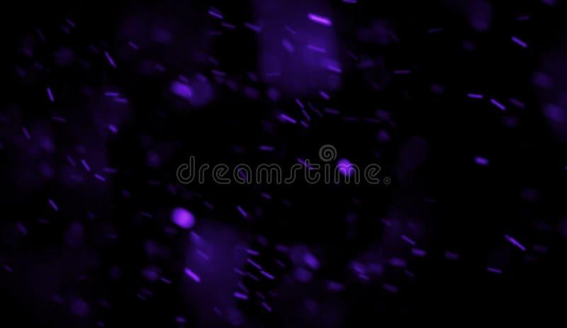 Bunte Funken, die oben fliegen Glühende Unschärfepartikelglut auf Überlagerungen einer dunklen Hintergrundbeschaffenheit stock abbildung