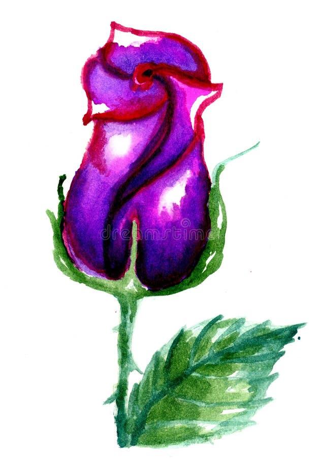 bunte gemalte rose stock abbildung illustration von blumenstrau 48627224. Black Bedroom Furniture Sets. Home Design Ideas